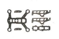 1set Carbon Fiber Frame Board Rack for Hubsan H122D RC Quadcopter Parts H122D 06 X4 Replacement Spare Parts