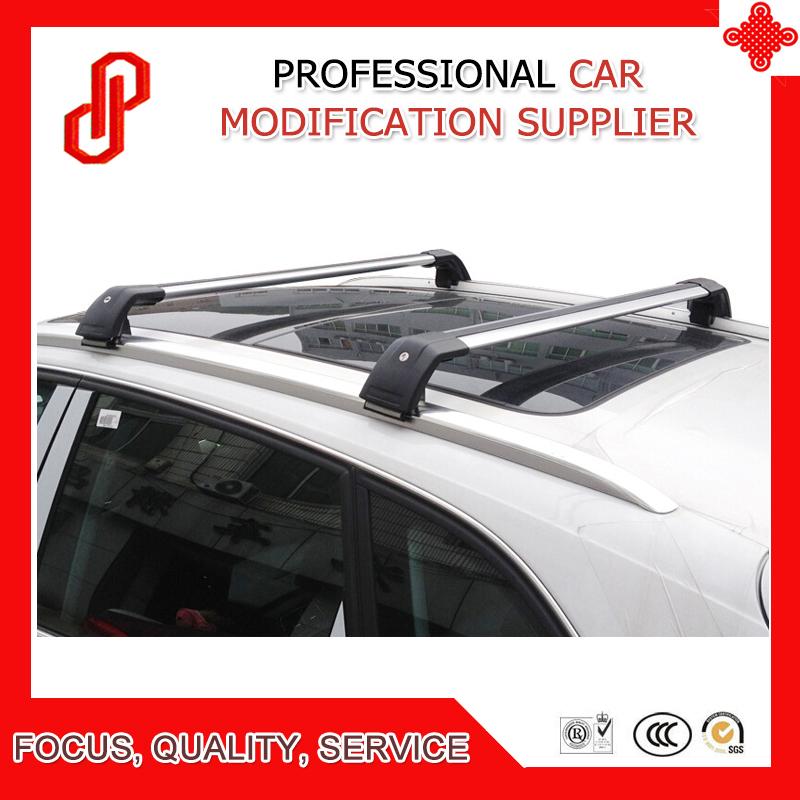 1 Pair silver black color load goods high quality Aluminium alloy car roof cross bar for Q7 Roof Racks & Boxes     - title=