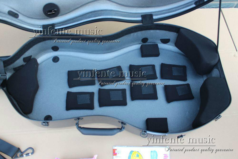 Neuer 4/4 Cellokoffer aus reiner Kohlefaser mit starkem Lichtrad - Musikinstrumente - Foto 3