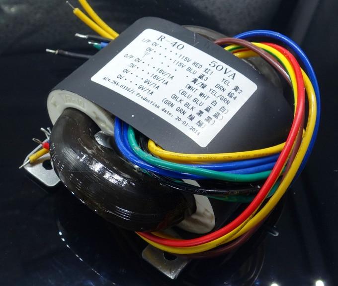 R Core Transformer transformer 115-230VAC 50VA 2*16VAC 1A +2*9V 1A with shield for DAC tube Headphone pre-amplifier CD player raphaelite 120w pre amp power transformer for tube amplifier rectifier