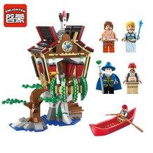Enlighten Pirates Over-Water Village Building Block Free Spirit Spheres Assemble Toys for children