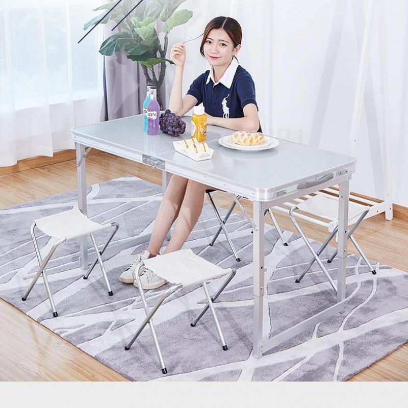 Folding Table Outdoor Convenient Spread-out Floor Stand Small Household Dining Table And Chair Simple And Flexible Multifunction(China)