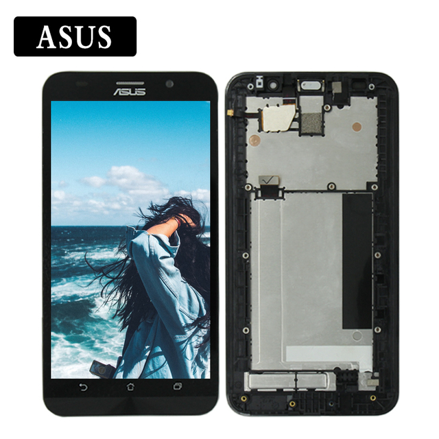 For ASUS Zenfone 2 ZE551ML Z00AD LCD Display Touch Screen Digitizer Assembly/Frame For Zenfone 2 ZE551ML LCD Replacement Part