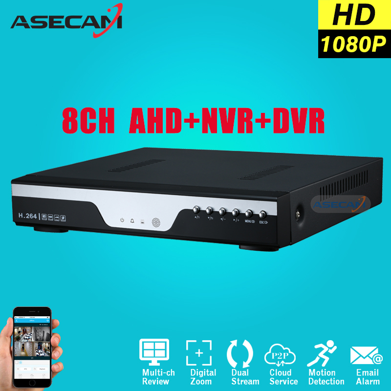 Super 8CH AHD DVR AHD-H Full HD 1080P Video Recorder H.264 CCTV Camera Onvif Network 16 Channel IP NVR Multilanguage With Alarm new dvr 4 channel h 264 4ch full d1 real time recording support network mobile phone cctv dvr recorder 4ch security dvr