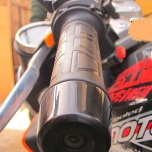 Image 5 - جديد عالمي دراجة نارية 22 مللي متر اليد الكهربائية قبضة ساخنة قبضة مصبوب ATV تدفئة ضبط درجة الحرارة المقود الساخن