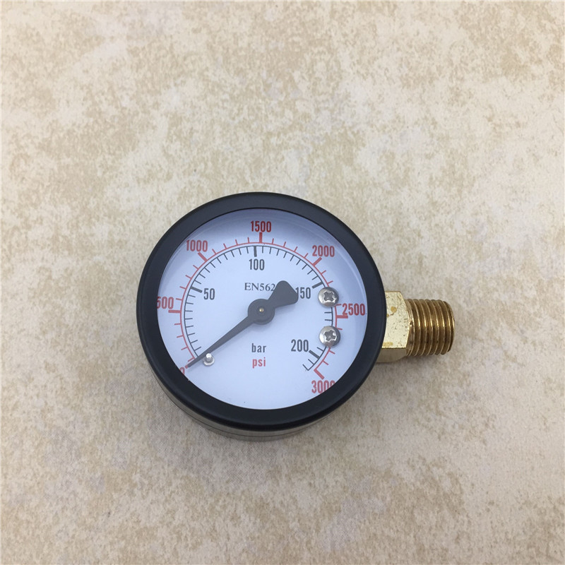 NEW High Pressure Replacement Gauge, 0 - 3000 PSI, Homebrewing Co2 Pressure Regulator Gauge (5)