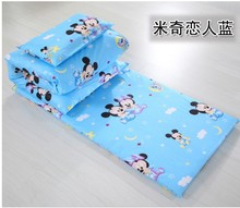 Promotion! 3PCS  Cartoon 100% cotton baby bedding set unpick and wash  (Duvet Cover+Sheet+Pillowcase)