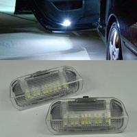 2PCS 18SMD LED Courtesy Lamp LEDs Side Door Light DC 12V White For VW Golf 5
