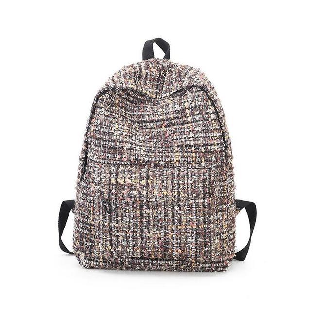 f75dd7965493 Female Wool Backpack Purse Women Woolen Backpacks Back Pack For Teenage  Girls Mini Vintage children Small Bagpacks