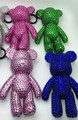 sparkly bear key chains cute popobe keyring rhinestone teddy doll handbag charm sparkly pendants handbag charm purse charm