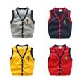 Smmoloa Crianças Blusas de Malha Colete Bebê Menino Roupas Jumper de Crianças Com Decote Em V Colete Outwear Roupas