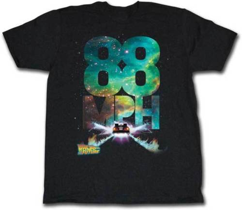 Back To The Future <font><b>88</b></font> Mph Flames Adult <font><b>T</b></font> <font><b>Shirt</b></font> image