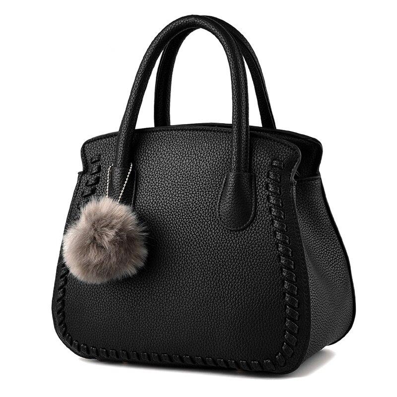 Fashion Black PU Women Shoulder Bag Elegant Office Lady Handbag Embossing Clutch