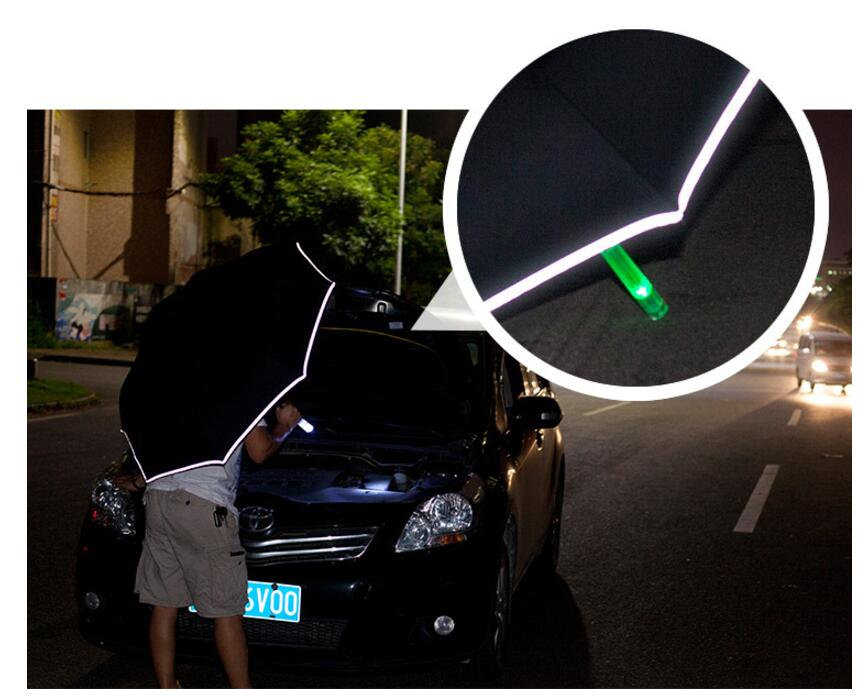 27afcf799e09 2019 Creative LED Inverted Travel Reverse Umbrella Cars Warning with  Flashlight for Night Safe Gifts SOS Umbrella Paraguas