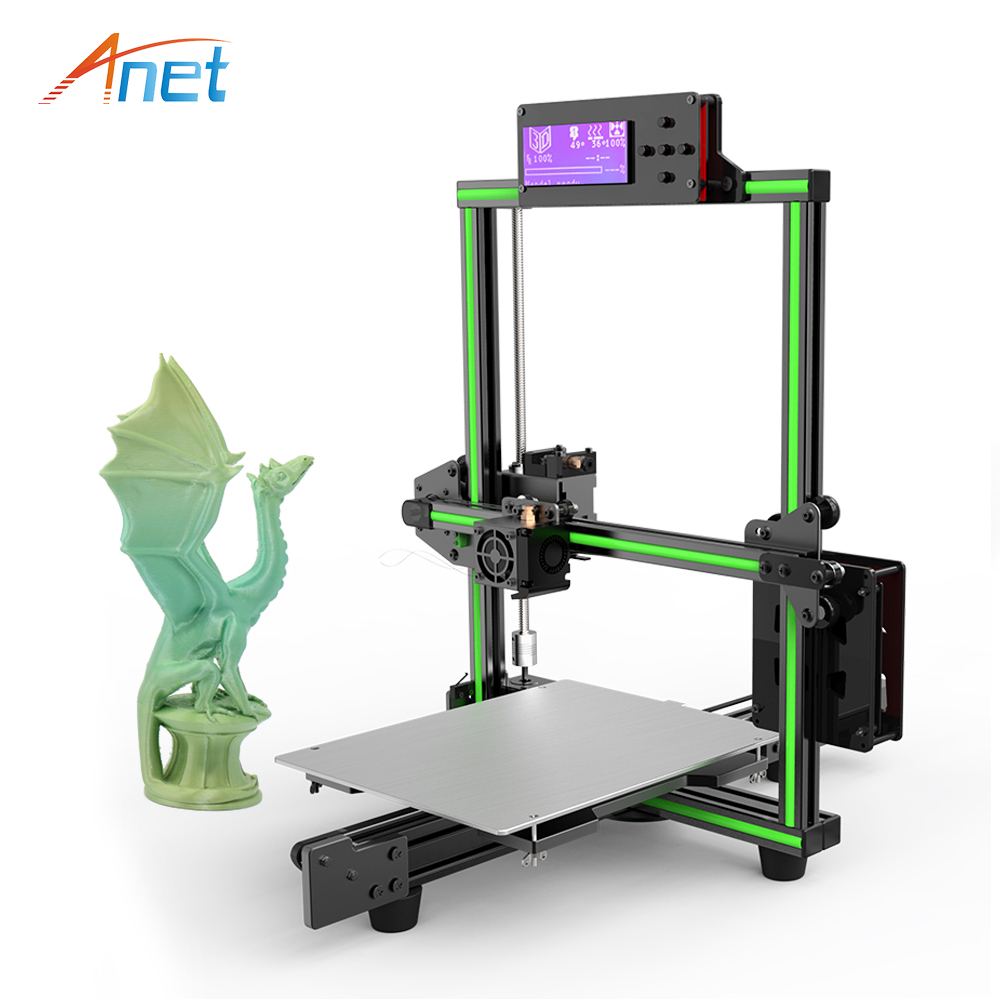 Anet E2 3d printer Upgrade Prusa i3 DIY Kit Easy Assembly 3d Printer Kit Large 2004 LCD impresora 3d Support 1.75mm PLA Filament цена