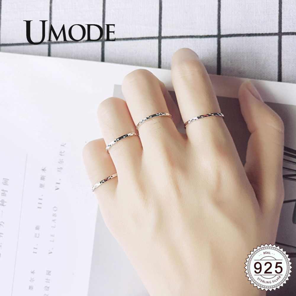 Umode Koreaanse 925 Sterling Zilveren Ringen Sets Bruiloft Fijne Sieraden Voor Vrouwen Rose White Gold Eternity Ringen Accessoires ULR0699