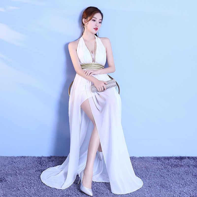 Floor-Length Full Gauzy Sexy Star full Prom Long Open back Evening dress  2018 Cocktail dc6c4467fa51