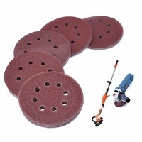 50pcs Lot Alumina Sanding Disc Round 5 Inch 8 Holes Sandpaper Grinding Polishing Tools 40 60