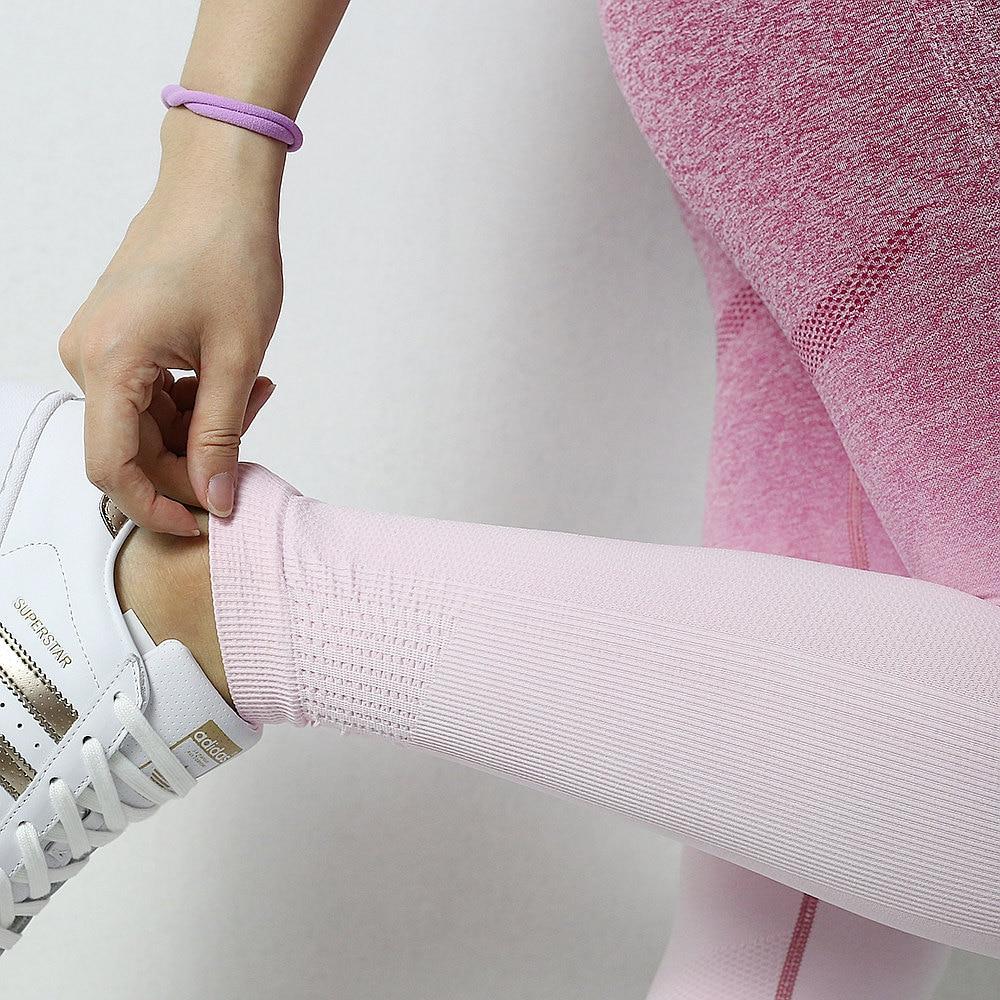Yoga Cintura Alta Leggings Esportivos Calças Executando As Mulheres