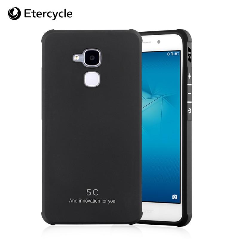 Для Huawei Honor 5C Case Простой Силиконовые Чехлы ТПУ Чехол антидетонационные Защитный Случаи Оболочки