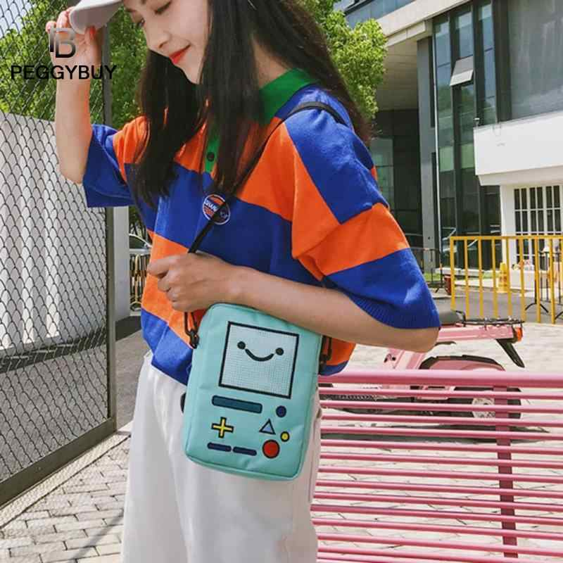 Mulheres Mensageiro Sacos de Ombro Ocasional Bonito Mini Nylon Robot Telefone Bolsa bolsa feminina Adolescente Estudante Crossbody Sacos sac a principal