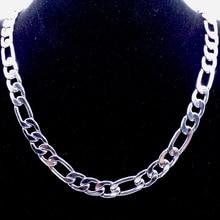 """10 мм 1""""-36"""" дюймов, индивидуальная длина, мужское высококачественное ожерелье из нержавеющей стали, цепочка Figaro, модное панк Ювелирное Украшение"""