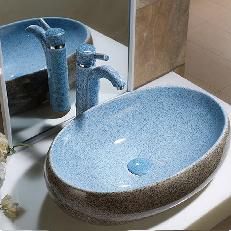 Personality creative jade glaze art basin color faucet TL083