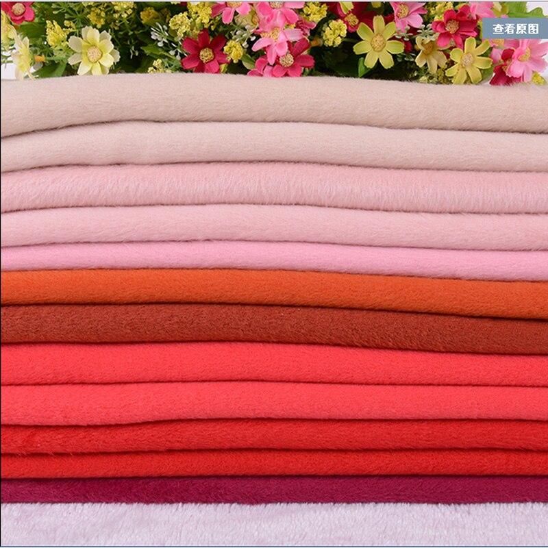 Épaississement laine cachemire tissu couleur pure fait à la main bricolage hiver manteau tissu largeur 1.5 m * longueur 1 m, R206