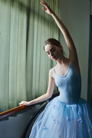 Light Blue Classical Ballet Tutu Costumes Girls Ballerina Dress Long Gymnastics Leotard Women Stage Performance Ballet