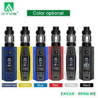 E cigarettes OLED Display 225W TC box Mod Smart TC Vape 5ml Tank Top Filling Atomizer 510 Thread Electronic Cigarettes
