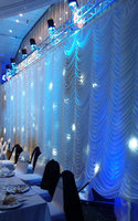 Express free 10ftx20ft Wedding Party Stage Background Decorations Wedding Curtain Backdrop Drapes In Ripple Design White Color