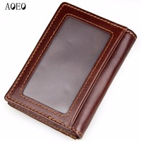 AOEO Minimalist Passport Cover Unisex Men Genuine Cow Leather Wallets Female Credit Card Holder ID Business