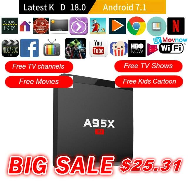 a95x r1 network hd set top box amlogic s905w 1g 8g 4k hot smart