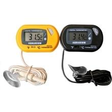 Аквариумный аквариум Цифровой термометр от производителя Цельсия, Фаренгейт преобразования температуры 1,5 в кнопка батареи