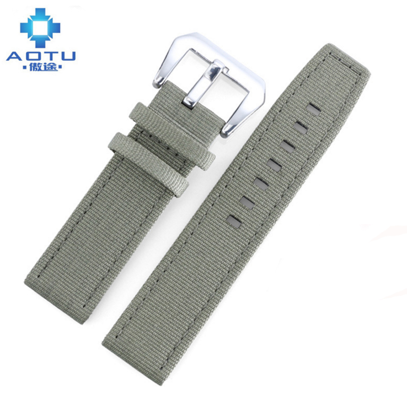 Bracelets de montre en Nylon de marque supérieure pour montres IWC/Tissot/Panerai hommes toile 2 couleurs bracelet de montre bracelet de montre en Nylon de l'otan pour horloge masculine