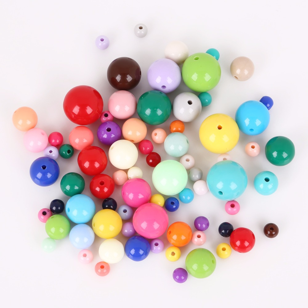 Mix of 10 corolla beads in acrylic 14x10 mm by 10