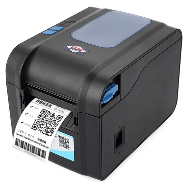 Original Hot Aibao BC-80152T Portable 80mm Label Barcode Thermal Printer with Free Paper Roll 152 mm/s High-speed Clear Printing