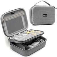 HHYUKIMI EVA Oxford Fabric Waterproof iPad Organizer USB Data Cable Earphone Power Bank Travel Storaged Digital Gadget Bag