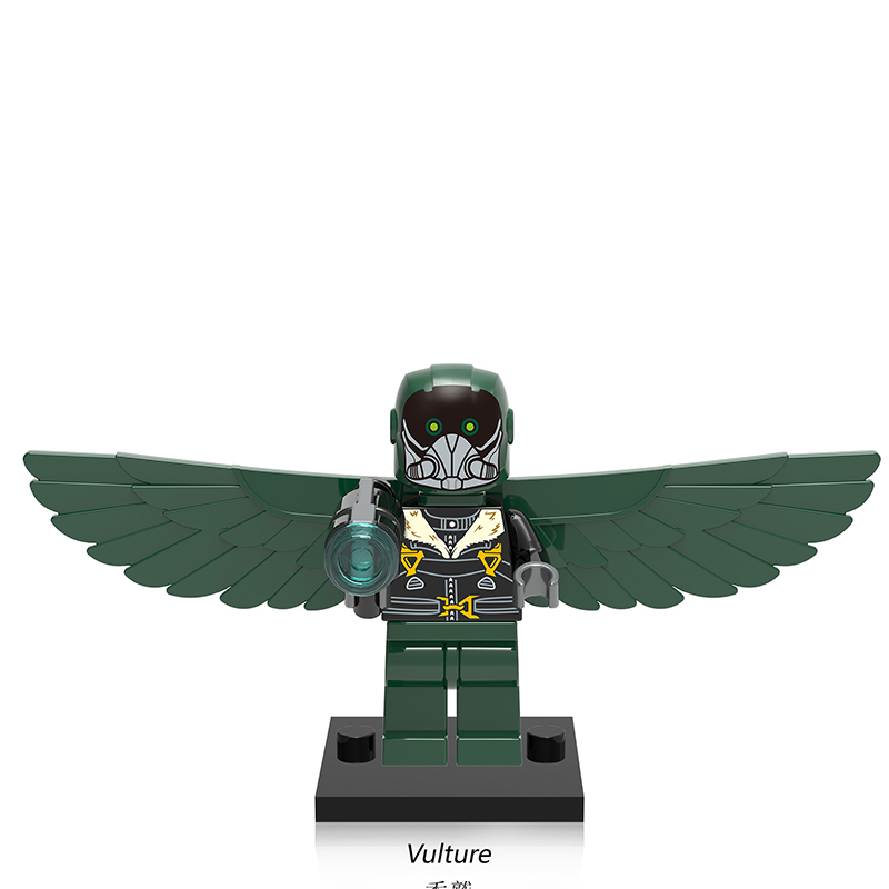 Single Sale XH676 Vulture DIY Blocks Supervillains Super Heroes Spider-Man Series Building Blocks Baby Toys For Children X0168 single sale marvel building blocks assembled baby diy toys legoelieds minifigures military engineering series blocks toy