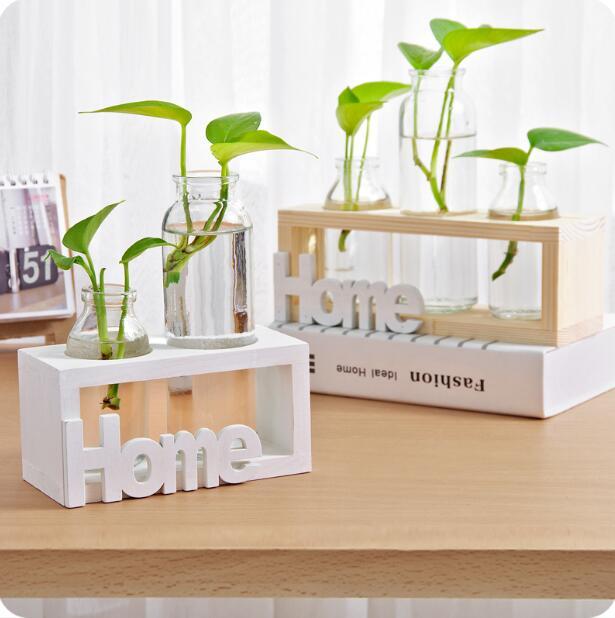 Creative Hydroponic Vase Glass Green Plant Storage Bottles Desktop Flower Jars Decorative Ornaments