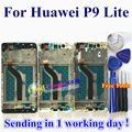 "Alta calidad nueva pantalla lcd + asamblea de pantalla táctil de cristal digitalizador para huawei p9 lite/g9 teléfono móvil 5.2 ""con marco"