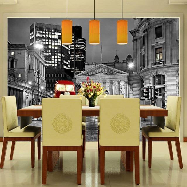 Online Shop Custom 3D Photo Wallpaper European Black And White City ...