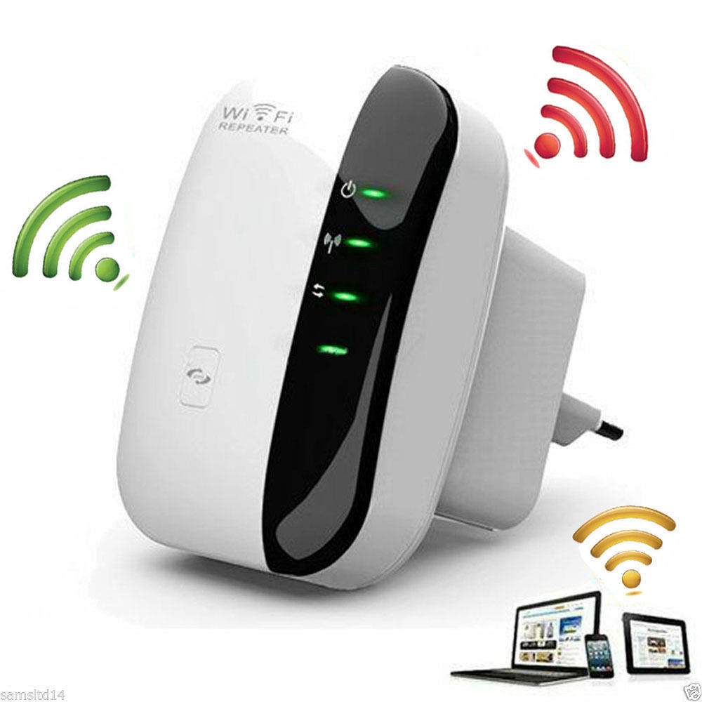 Eightwood 300Mbps Signal Extender Booster Wireless-N AP Range 802.11 Wifi Repeater EU Plug