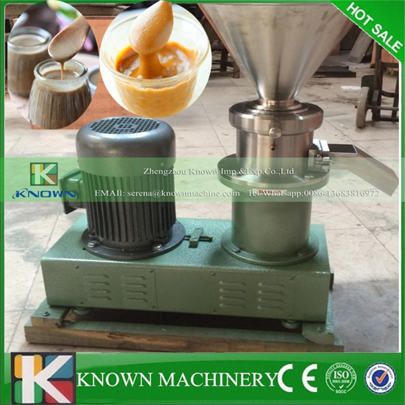 High frequency vibration stainless steel nuts seeds peanut butter sesame paste chilli sauce colloid mill grinder machine hot sale 80 colloid mill peanut butter making machine bitumen sesame paste grinder machine