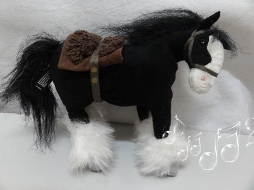 Original Movie Brave Angus Black Horse Cute Stuff Plush Toy Doll Children Birthday Gift