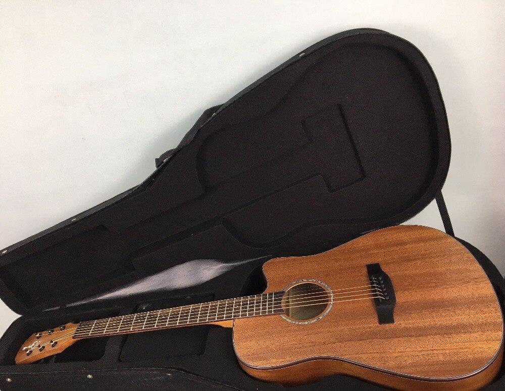 Guitare acoustique 41 pouces débutant pratique guitare Folk 6 cordes acajou Instrument de musique pour étudiant amoureux cadeau avec grand étui