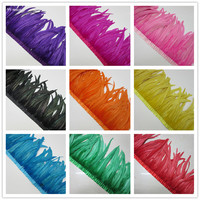 35 40cm Rooster Feather Trimming Ribbon Trim 10yard Coque For Crafts Dress Skirt Carnival Costumes Plumes DIY wedding decoration