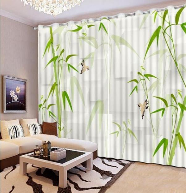 Personnalisé Sheer Rideau salon moderne bambou Rideaux salon Chambre ...
