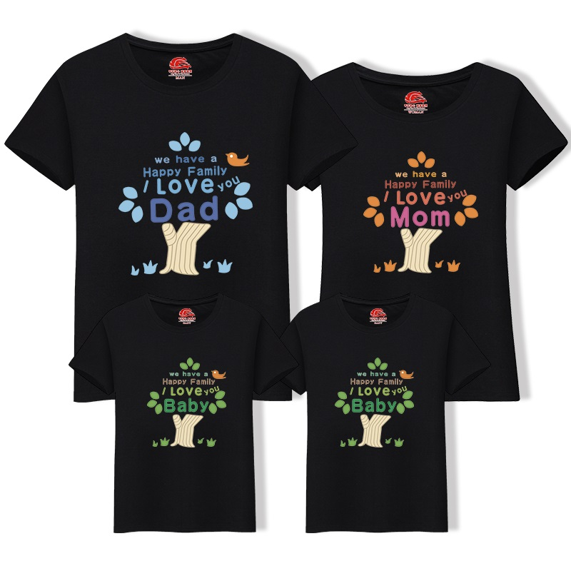 Family Look T-Shirt Tree Cotton Dad Son T Shirt Family Matching Outfits Tees Tops Summer Father and Me Mother Daughter Clothes