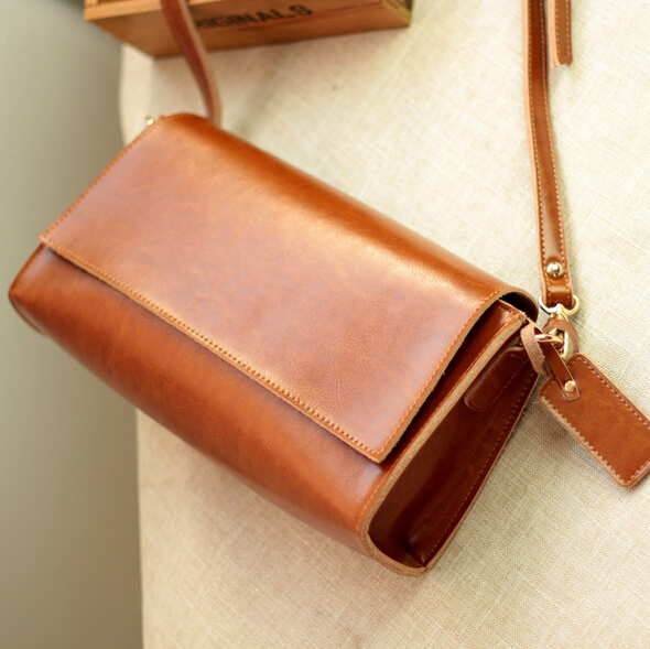 Vintage 100% Guarantee Genuine Leather women messenger bags Small Casual Cowhide shoulder crossbody bag Fashion women bags 2017